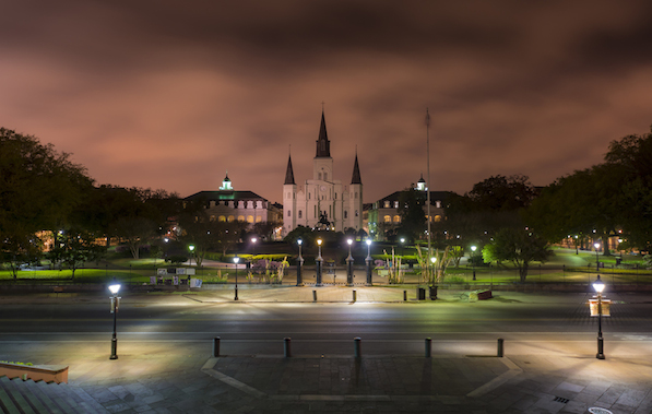 St. Louis Cathedral in Jackson Square, New Orleans, Louisiana