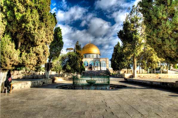 HDR shot of the Dome of the Rock in Jerusalem Israel